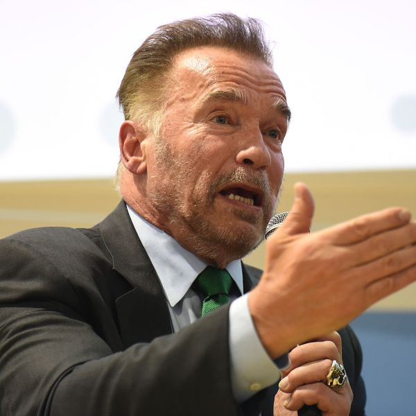 Actor, filmmaker and former California Gov. of Arnold Schwarzenegger delivers a speech during the COP24 summit on climate change in Katowice, Poland, on Dec. 3, 2018. (Credit: Janek Skarzynski / AFP / Getty Images)