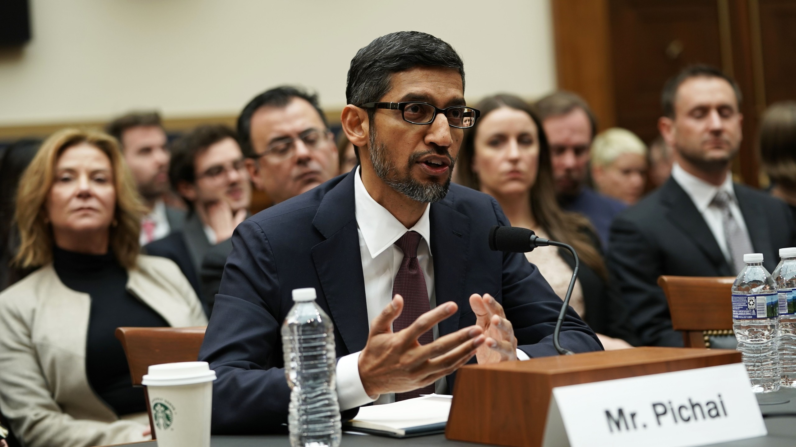 Google CEO Sundar Pichai testifies before the House Judiciary Committee at the Rayburn House Office Building on Dec. 11, 2018. (Credit: Alex Wong/Getty Images)