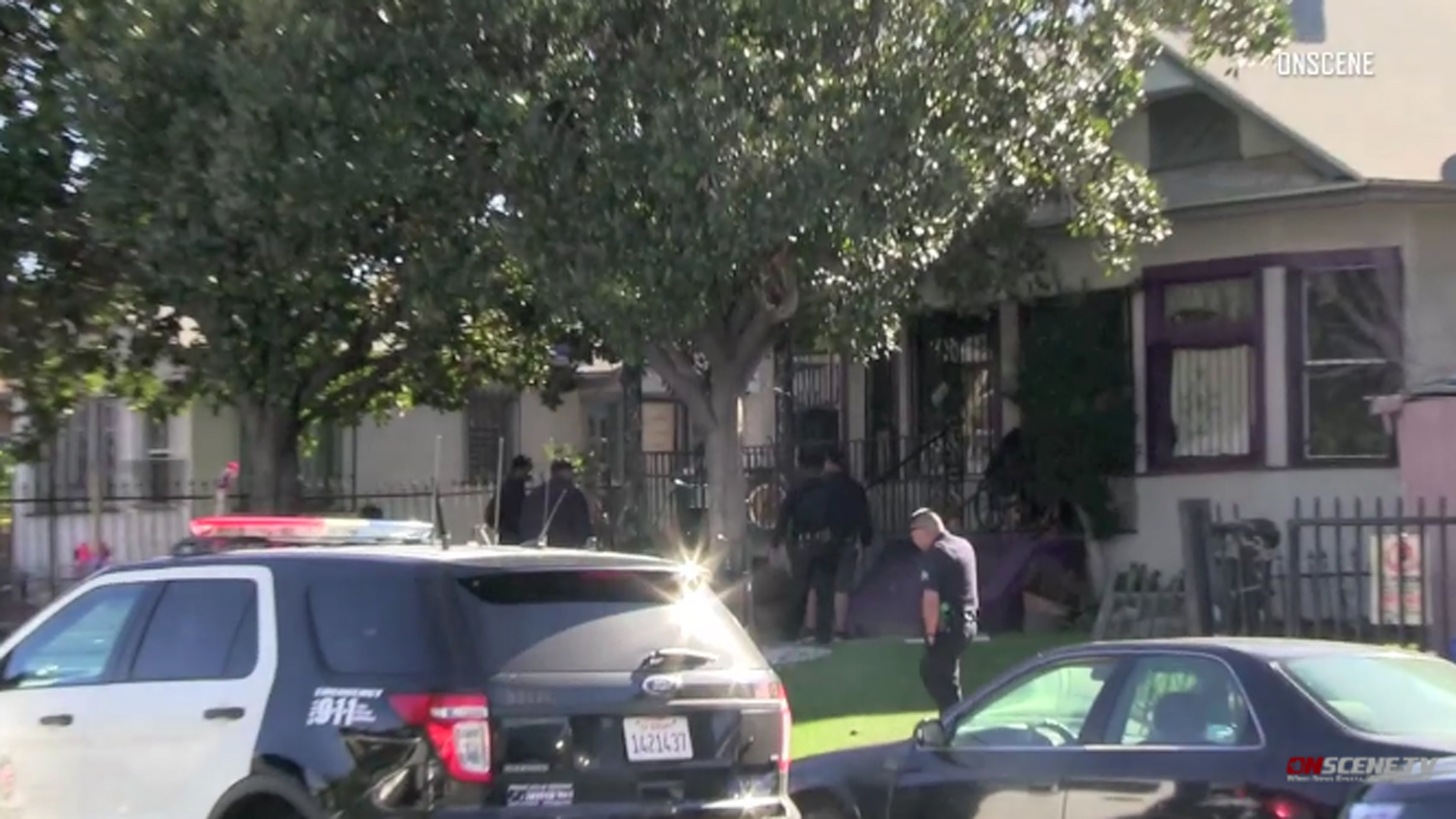 Police responded to a home in South L.A. after a 4-year-old girl died in a hospital on Dec. 2, 2018. (Credit: OnSceneTv)