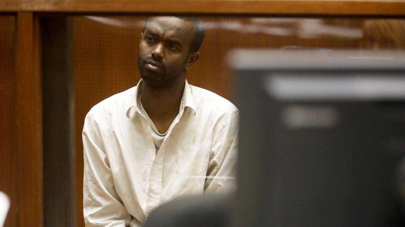 Mohamed Abdi Mohamed, 32, is seen during a court appearance on Nov. 30, 2018. (Credit: Francine Orr / Los Angeles Times)