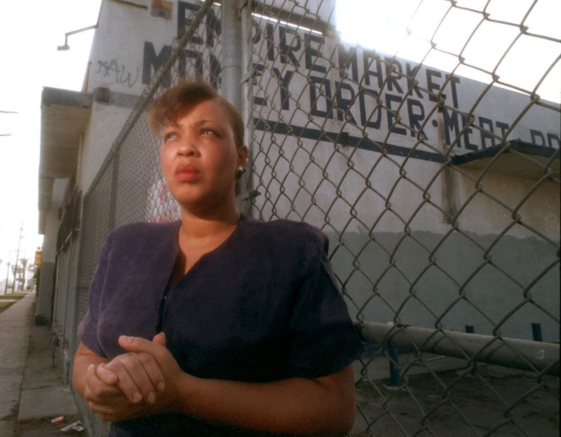 Denise Harlins, pictured in 1995. (Credit: Los Angeles times)
