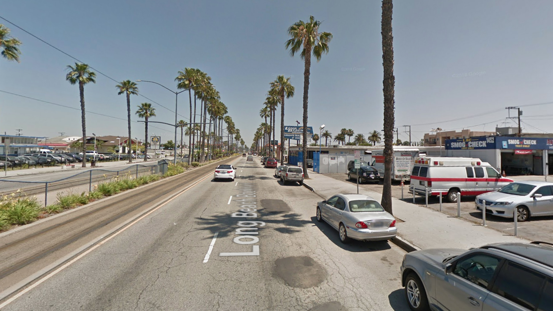The 1400 block of Long Beach Boulevard in Long Beach, as pictured in a Google Street View image in June of 2017.