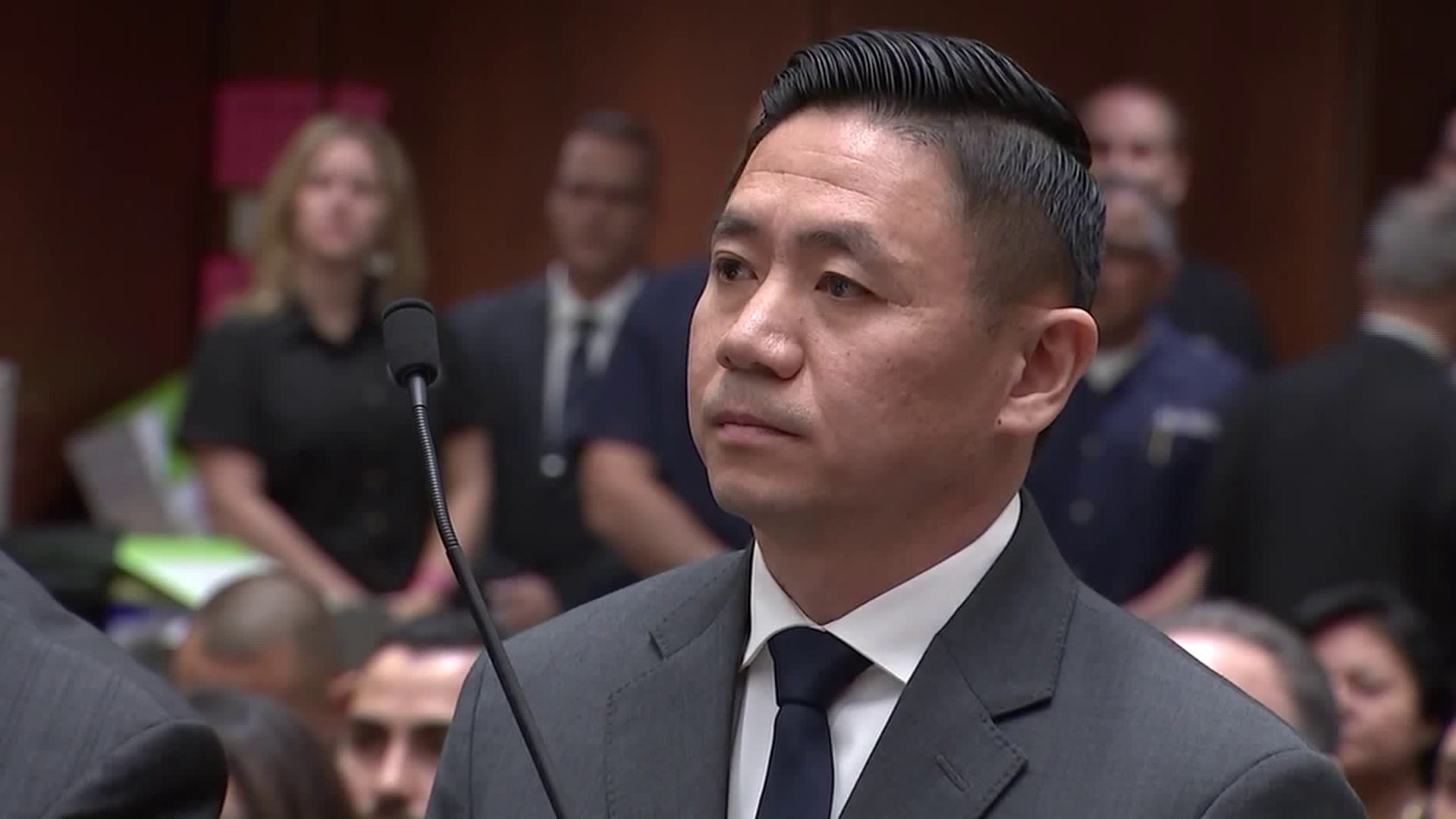 Luke Liu is seen in court on Dec. 11, 2018. (Credit: KTLA)