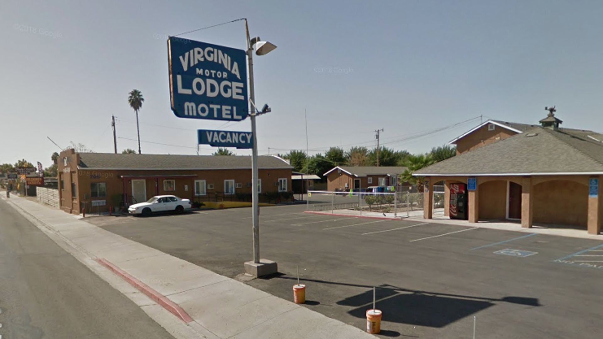The Virginia Motor Lodge Motel in Tulare is seen in an image from Google Maps.