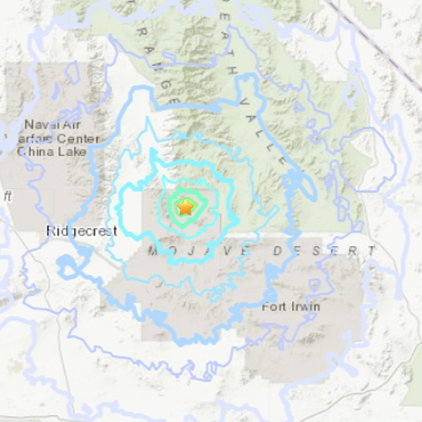A magnitude 4.2 earthquake struck east-northeast of Ridgecrest on Dec. 5, 2018. (Credit: U.S. Geological Survey)