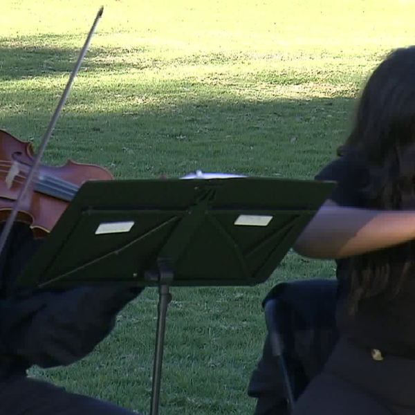 The Inner City Youth Orchestra of Los Angeles performs in Pasadena on Dec. 30, 2018. (Credit: KTLA)
