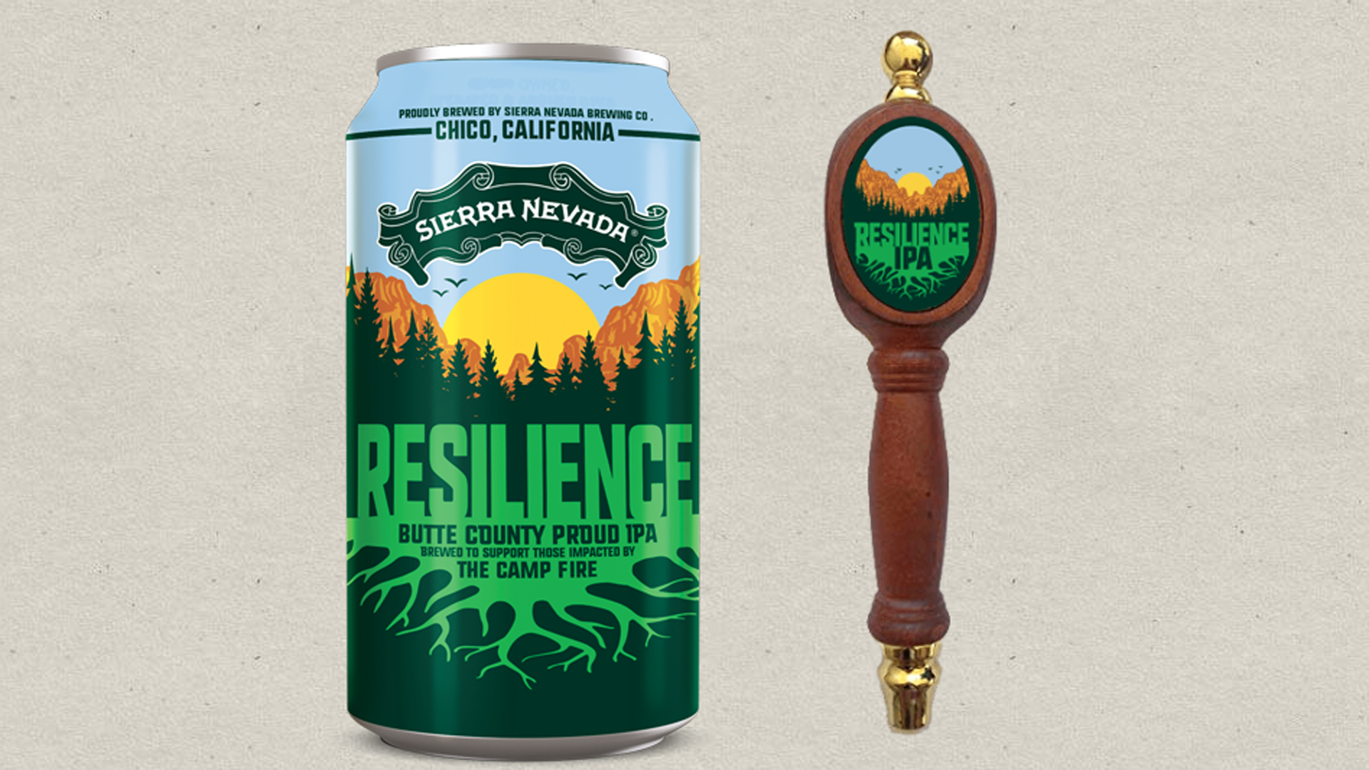 Sierra Nevada's Resilience IPA, which raises funds for victims of the Camp Fire in Butte County, is seen here on a photo from the brewery's website.
