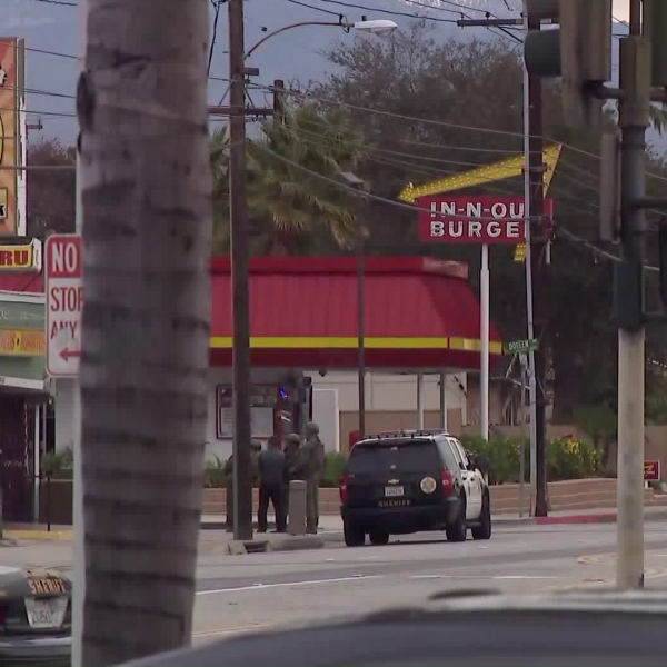 Police responded to a barricade situation in Temple City on Dec. 10, 2018. (Credit: KTLA)