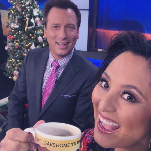 A photo of Chris Burrous and Lynette Romero posted to her Twitter account on Dec. 28, 2018.