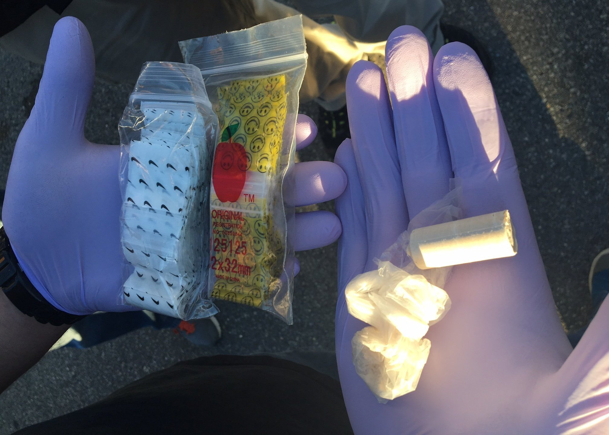 Seized packets of fentanyl are shown in this undated file photo provided by the DEA.