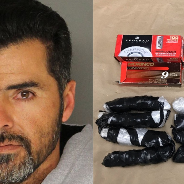Julio Cesar Aguilar-Lopez, 38, of Santa Maria is pictured alongside the meth officials have accused him of dealing in Santa Maria. The photos were released by the Santa Barbara County Sheriff's Office on Dec. 21, 2018.