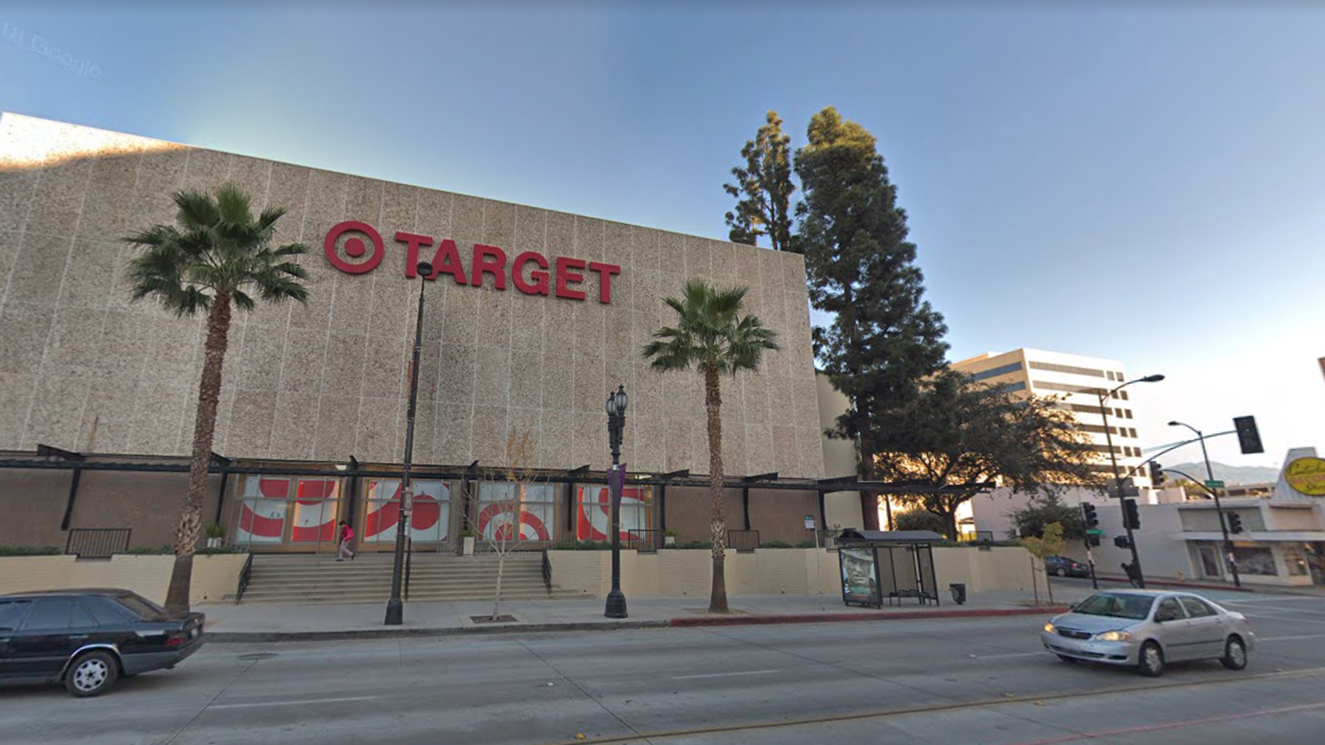 The Target store located at 777 East Colorado Boulevard in Pasadena is seen in this undated image. The stabbing of an employee at the store, by an accused shoplifter, was reported on Dec. 18, 2018. (Credit: Google Maps)