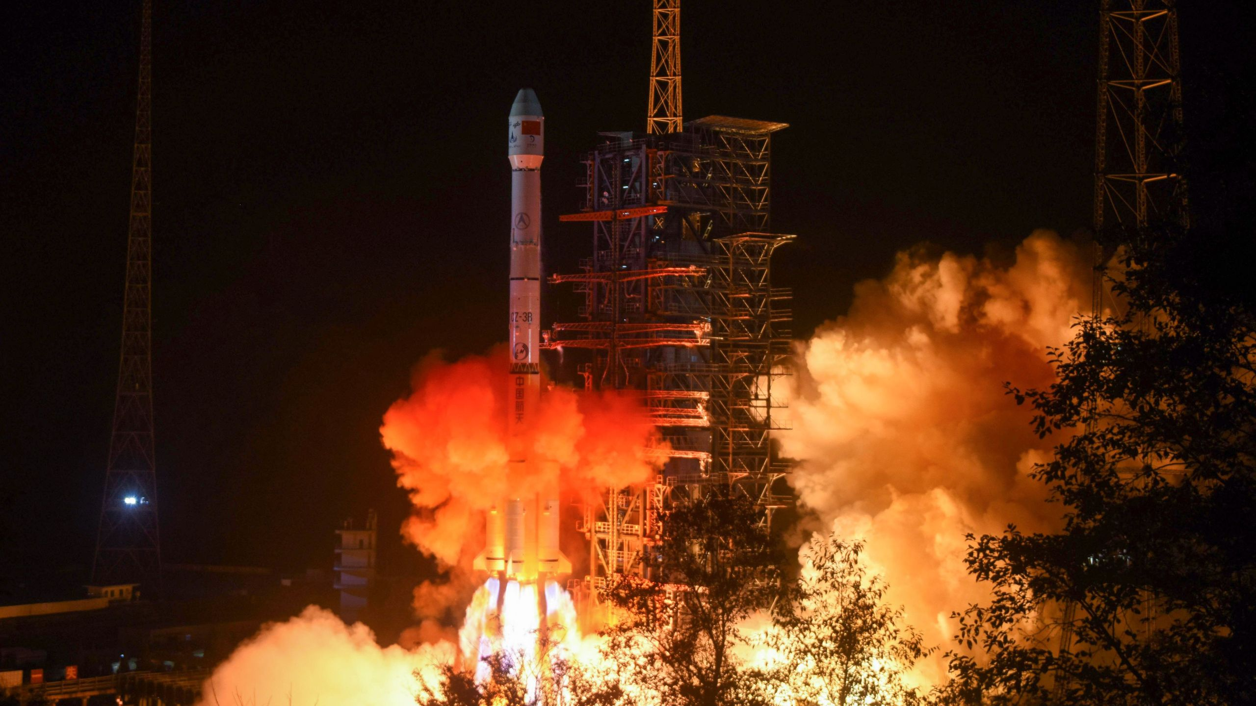 A rocket lifts off from the Xichang launch center in China's southwestern Sichuan province early on Dec. 8, 2018, the day the rover was launched. (Credit: STR/AFP/Getty Images)