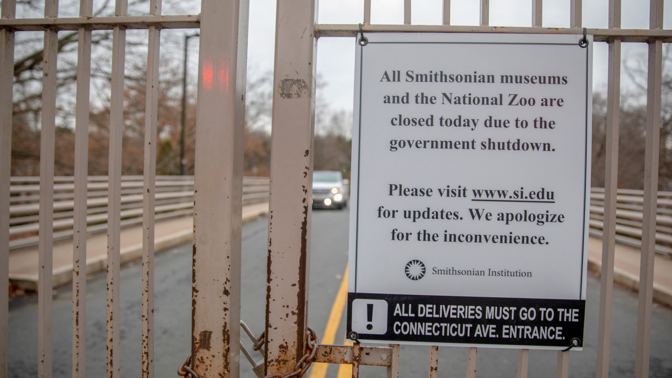Smithsonian National Zoo is closed to the public on Jan. 02, 2019 in Washington, D.C. amid a government shutdown. (Credit: Tasos Katopodis/Getty Images)