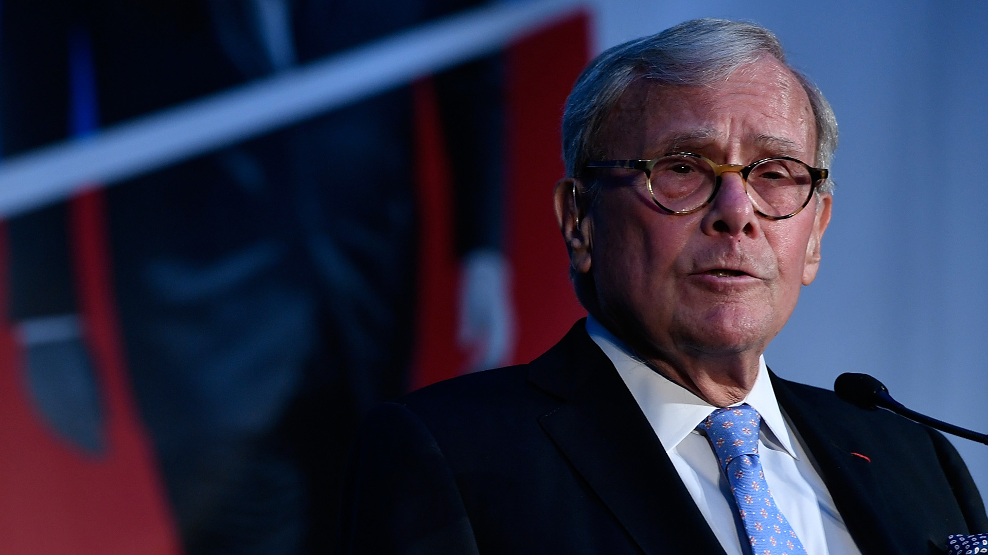 NBC anchor and author Tom Brokaw speaks at American Visionary: John F. Kennedy's Life and Times debut gala at Smithsonian American Art Museum on May 2, 2017, in Washington, D.C. (Credit: Larry French/Getty Images for WS Productions)