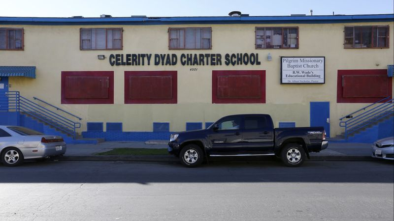 Pictured in this undated photo is The Celerity Dyad Charter School in Los Angeles, which closed in 2018. (Credit: Gary Coronado / Los Angeles Times)