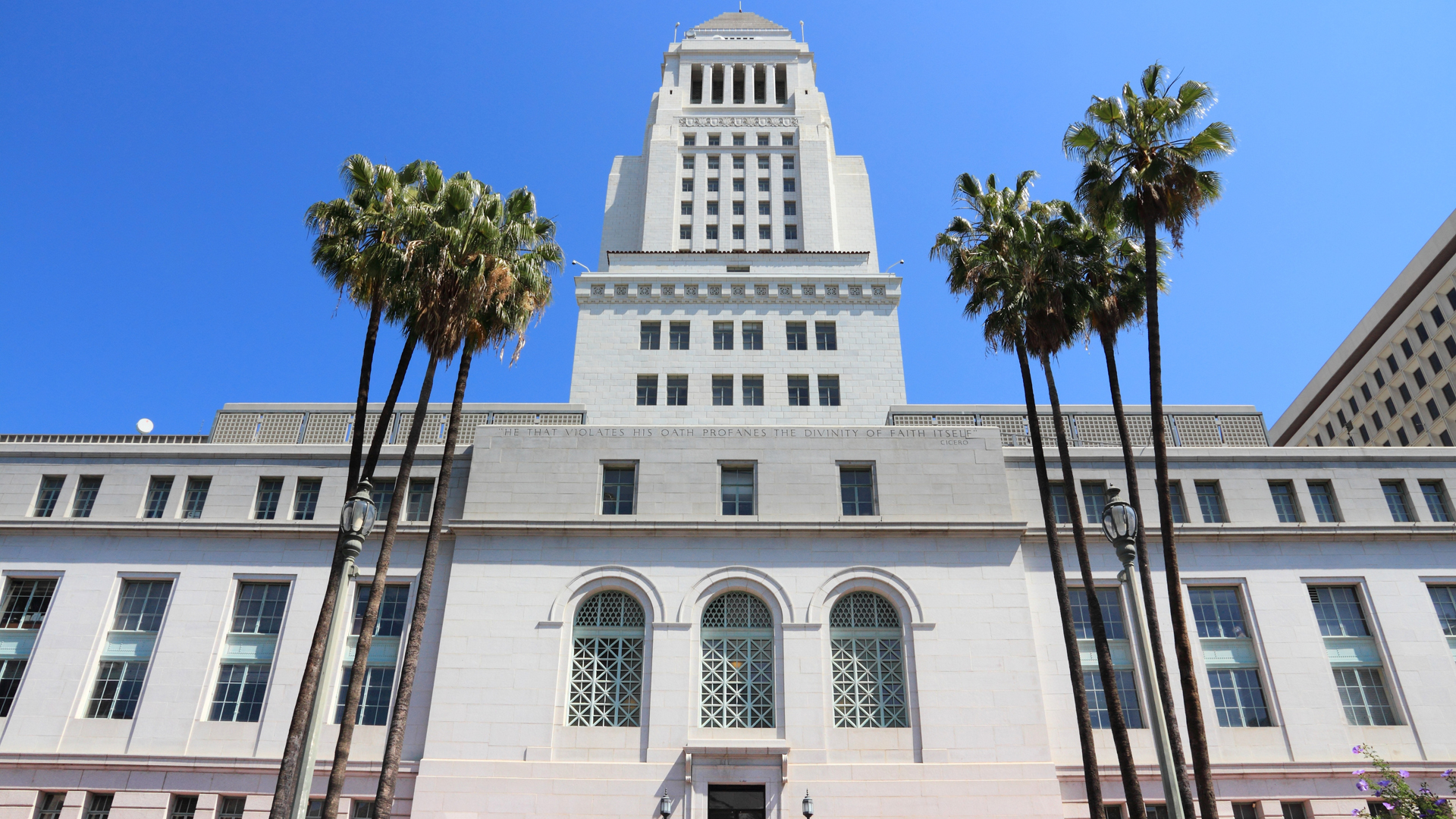 Los Angeles City Hall is seen in an undated photo. (iStock / Getty Images Plus)