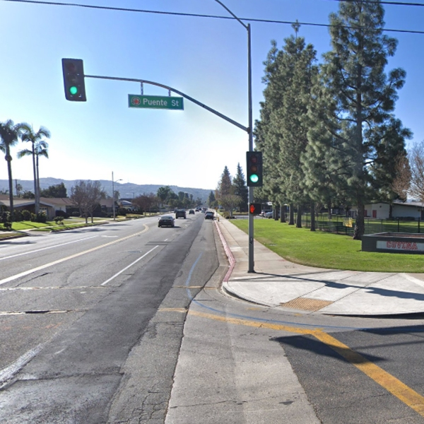 The 400 block of South Hollenbeck Avenue in Covina, as pictured in a Google Street View image in January of 2018.