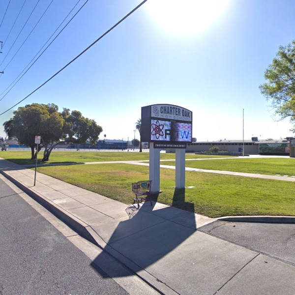 Charter Oak High School in Covina, as pictured in a Google Street View image in February of 2018.