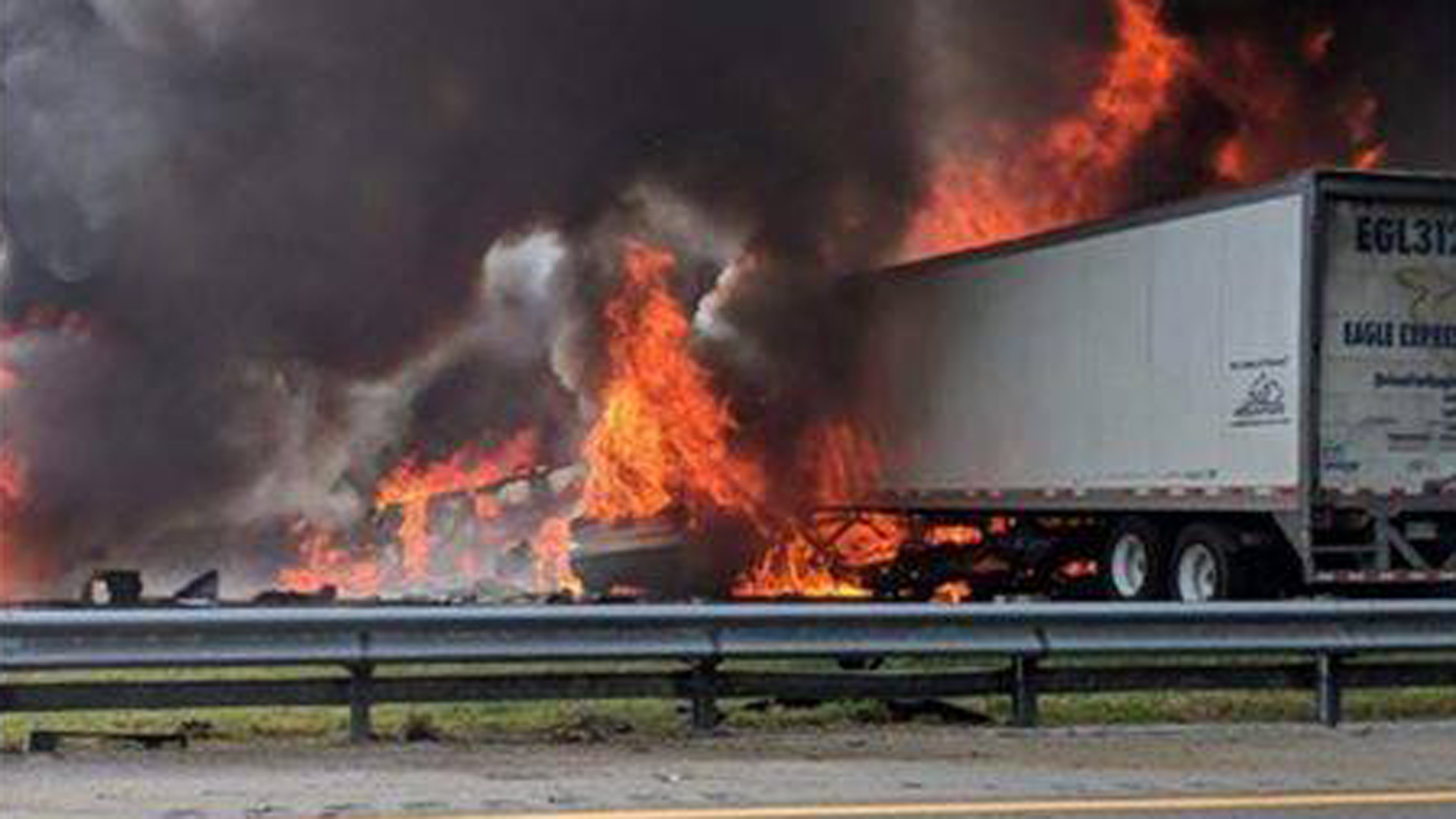 The Alachua County Fire Rescue released this photo of the fiery crash.