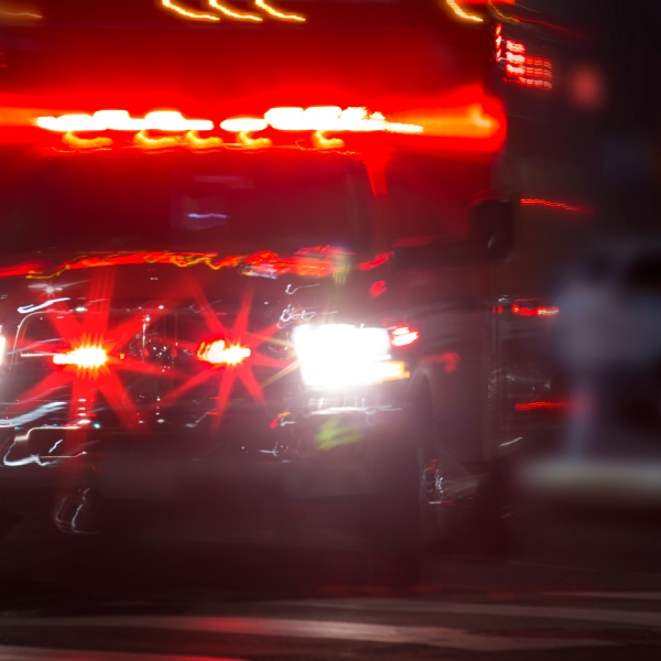 An ambulance rushes to the scene of an accident in a file image (Credit: iStock / Getty Images Plus)