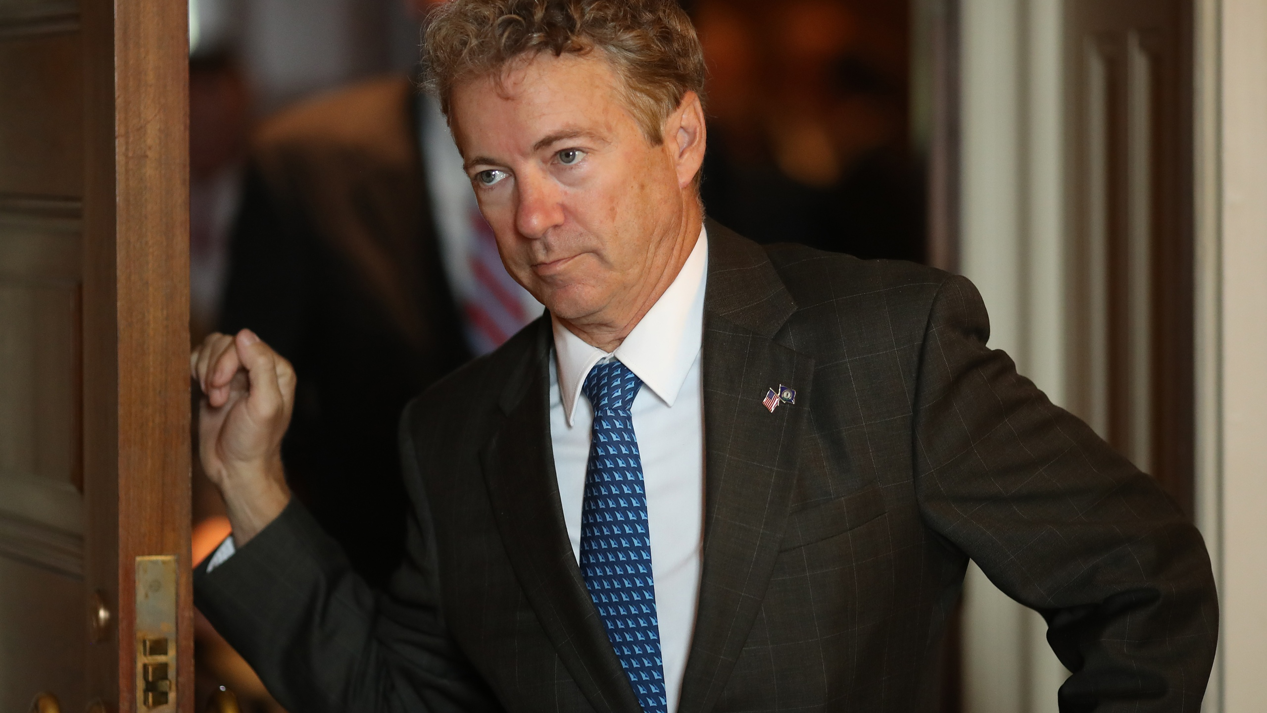 Sen. Rand Paul (R-KY) departs the weekly Republican policy luncheon on Sept. 25, 2018 in Washington, D.C. (Credit: Win McNamee/Getty Images)