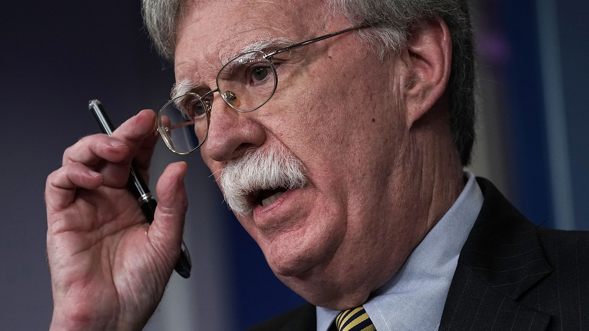 National Security Adviser John Bolton speaks during a White House news briefing at the White House on Oct. 3, 2018, in Washington, D.C. (Credit: Alex Wong/Getty Images)