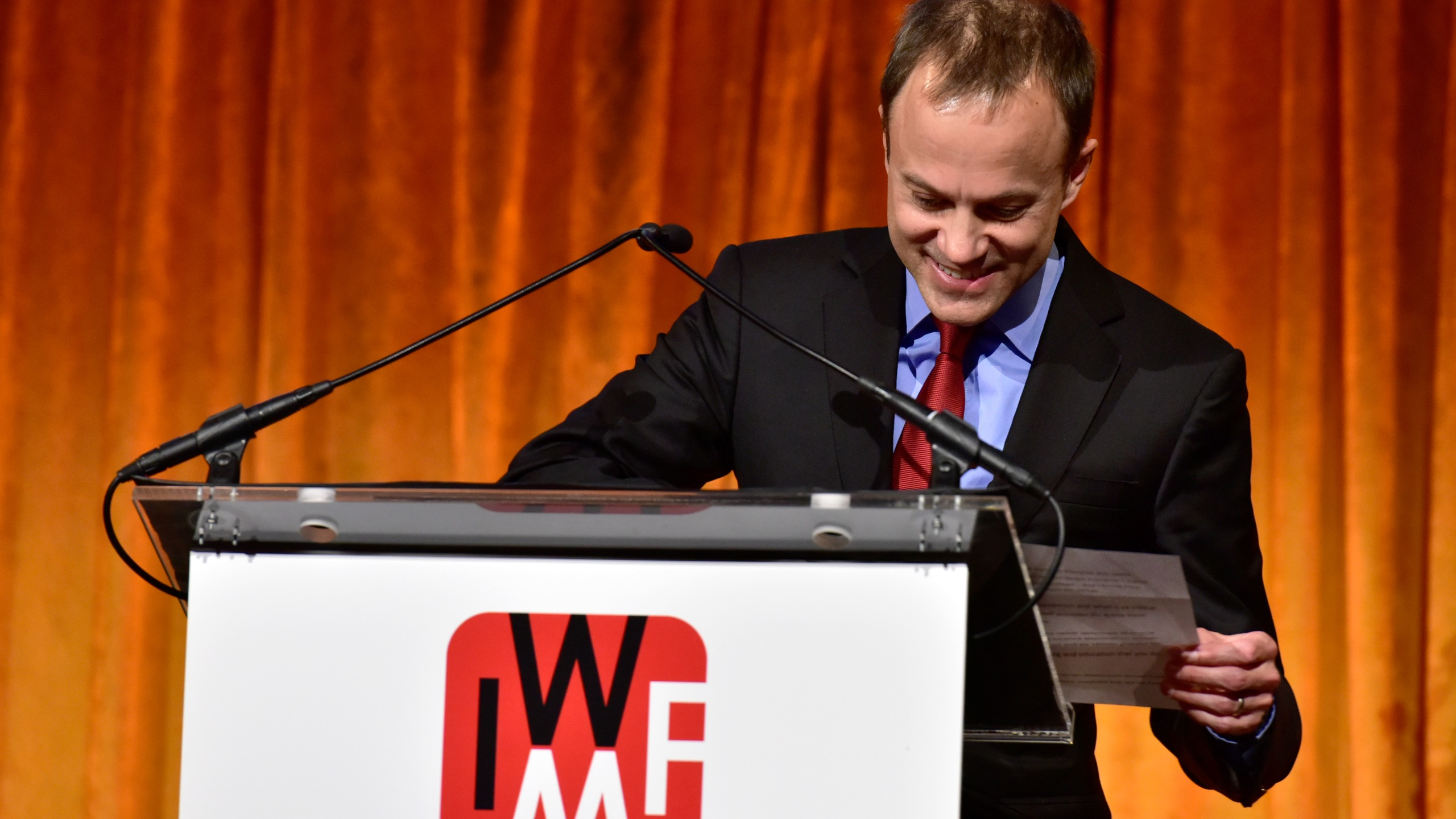 President of CBS News David Rhodes speaks onstage during the International Women's Media Foundation's 2018 Courage in Journalism Awards at Cipriani 42nd Street on October 25, 2018 in New York City. (Credit: Eugene Gologursky/Getty Images)