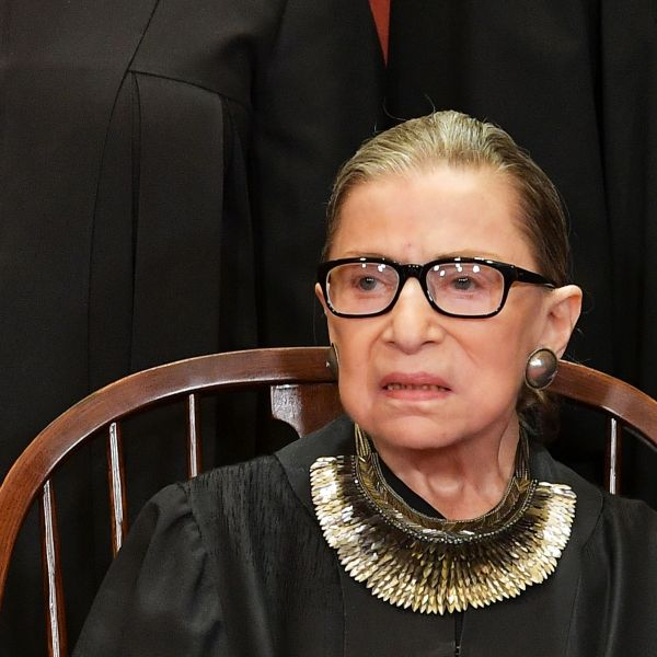 Associate Justice Ruth Bader Ginsburg poses for the official photo at the Supreme Court in Washington, DC on Nov. 30, 2018. (Credit: MANDEL NGAN/AFP/Getty Images)