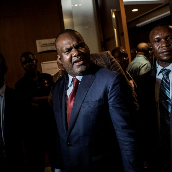 President of the National Independent Electoral Commission Corneille Nangaa leaves a joint meeting with the main presidential candidates and the African Union on Jan. 2, 2019, in Kinshasa. (Credit: John Wessels/AFP/Getty Images)