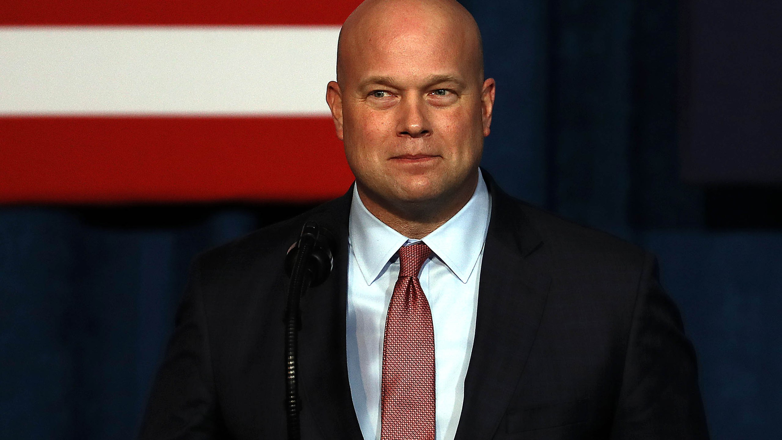 Acting Attorney General Matthew Whitaker addresses the Project Safe Neighborhoods National Conference in Kansas City, Missouri on Dec. 7, 2018. (Credit: Jamie Squire/Getty Images)