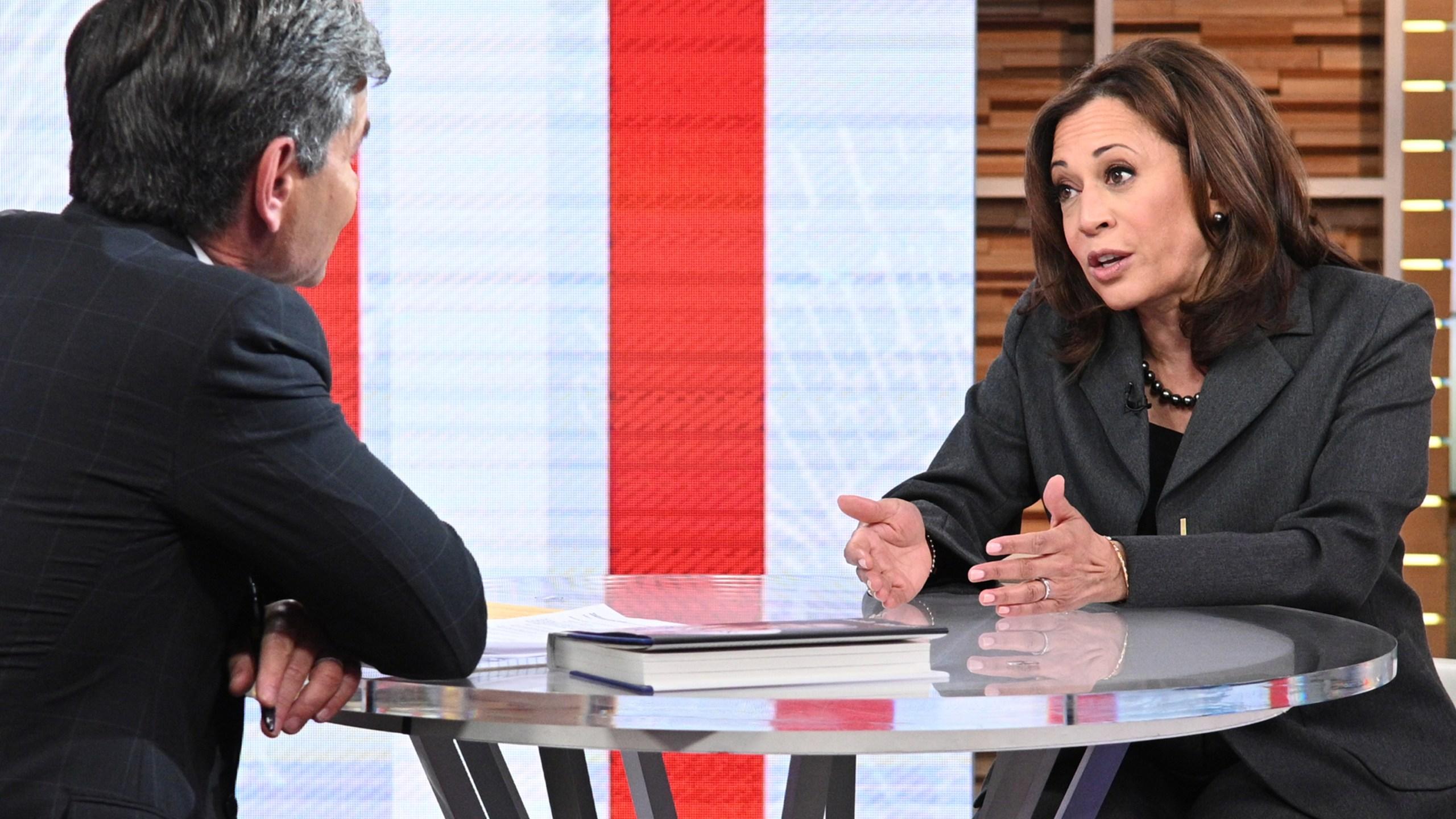 "Sen. Kamala Harris appears as a guest on ABC's ""Good Morning America"" on Jan. 8, 2019. (Credit: Lorenzo Bevilaqua / ABC via Getty Images)"