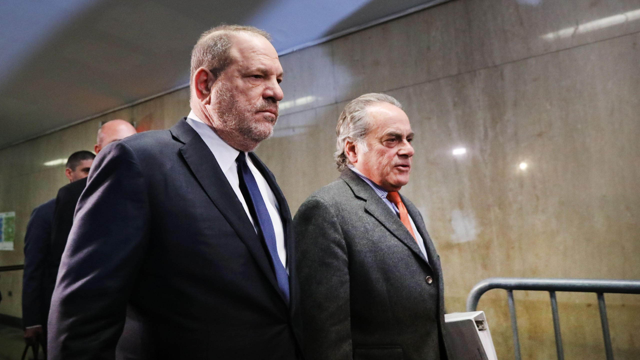 Harvey Weinstein (L) arrives with his lawyer Benjamin Brafman for a court hearing at New York Criminal Court,on December 20, 2018 in New York City. (Credit: Spencer Platt/Getty Images)