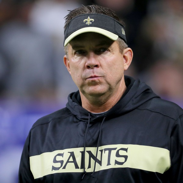 Head coach Sean Payton of the New Orleans Saints looks on prior to the NFC Championship game at the Mercedes-Benz Superdome on Jan. 20, 2019 in New Orleans, Louisiana. (Credit: Sean Gardner/Getty Images)