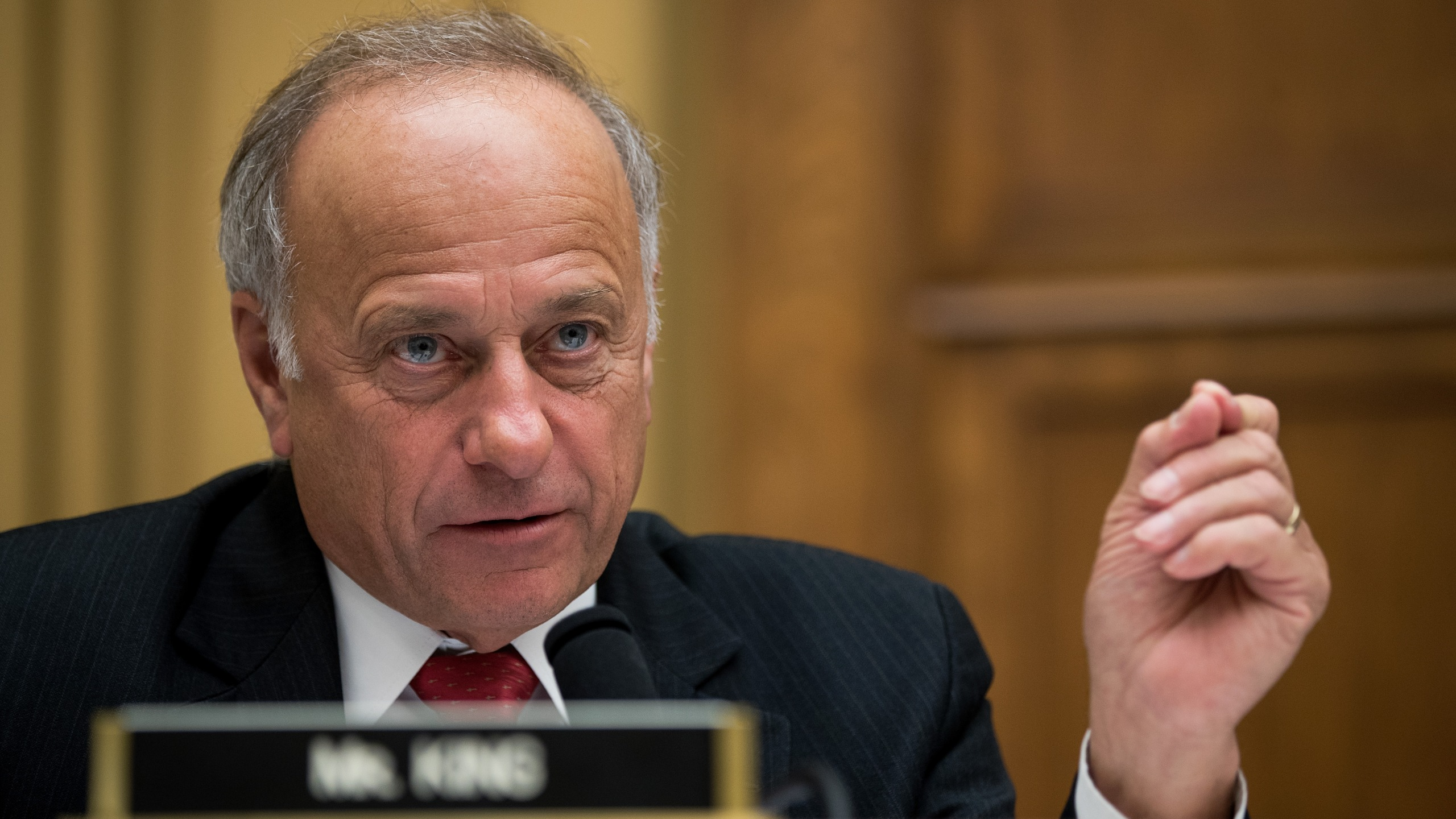 Rep. Steve King (R-IA) questions witnesses during a House Judiciary Committee hearing concerning the oversight of the U.S. refugee admissions program, on Capitol Hill, October 26, 2017 in Washington, DC. (Credit: Drew Angerer/Getty Images)