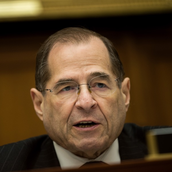 U.S. Rep. Jerrold Nadler (D-NY) speaks during a House Judiciary Subcommittee hearing on the proposed merger of CVS Health and Aetna on Feb. 27, 2018. (Credit: Drew Angerer/Getty Images)