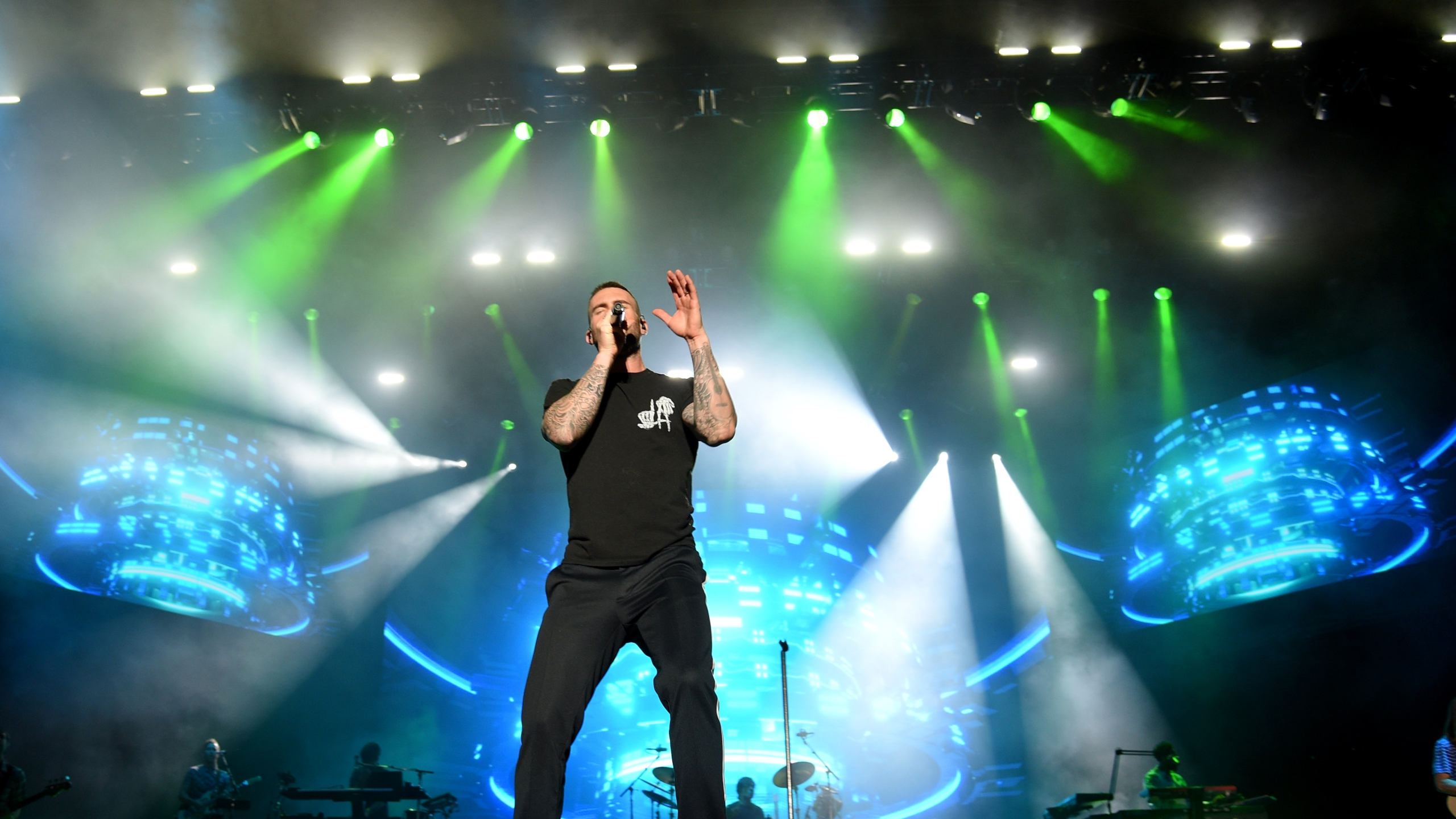 Adam Levine of Maroon 5 performs during the Capital One JamFest onstage at the NCAA March Madness Music Festival at Hemisfair on April 1, 2018 in San Antonio, Texas. (Credit: Michael Loccisano/Getty Images for Turner)