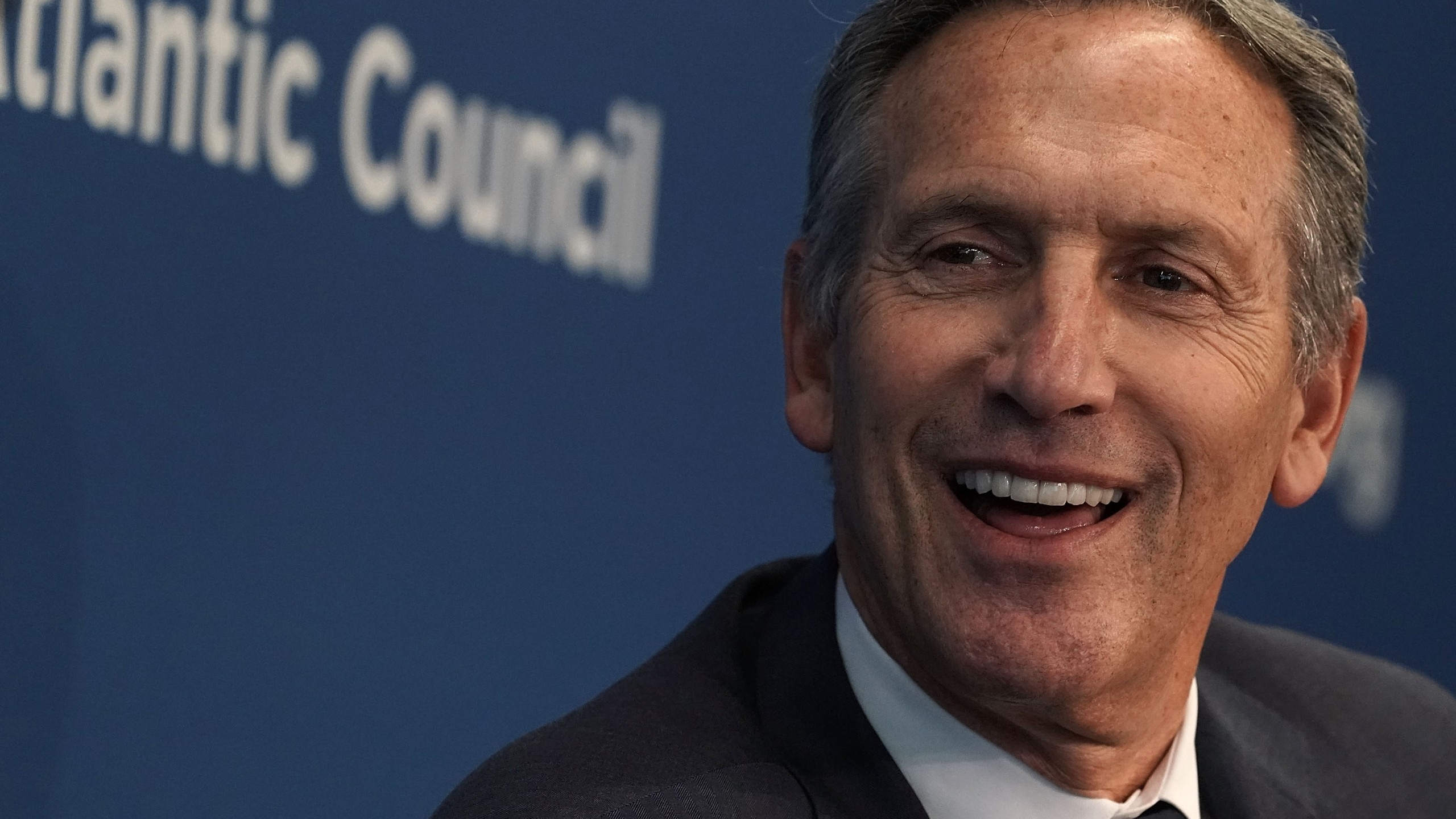 Former Executive Chairman of Starbucks Corporation Howard Schultz participates in a discussion at the Atlantic Council in Washington, D.C. on May 10, 2018. (Credit: Alex Wong/Getty Images)