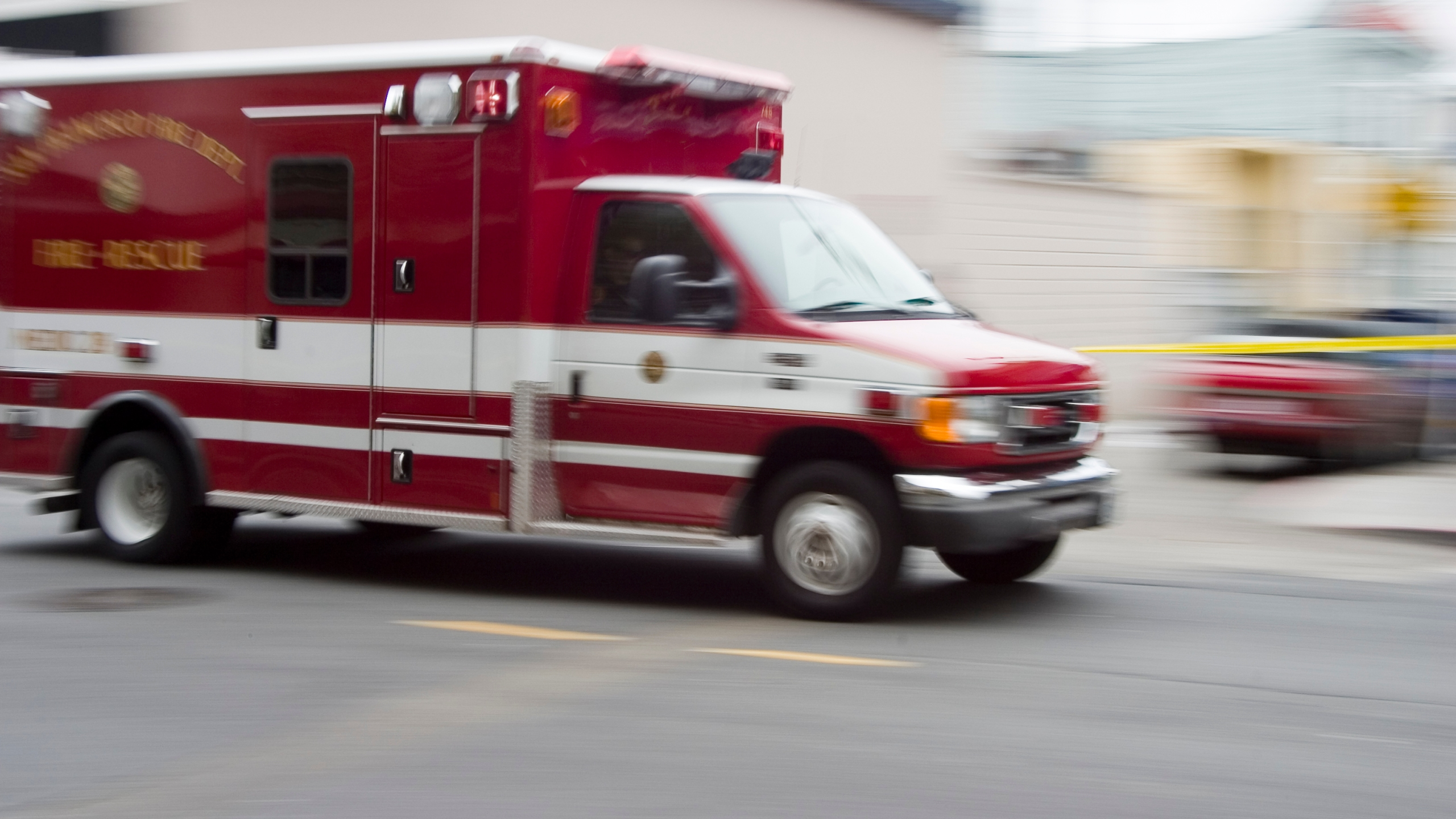 A file image shows a paramedic's ambulance. (Credit: iStock / Getty Images Plus)