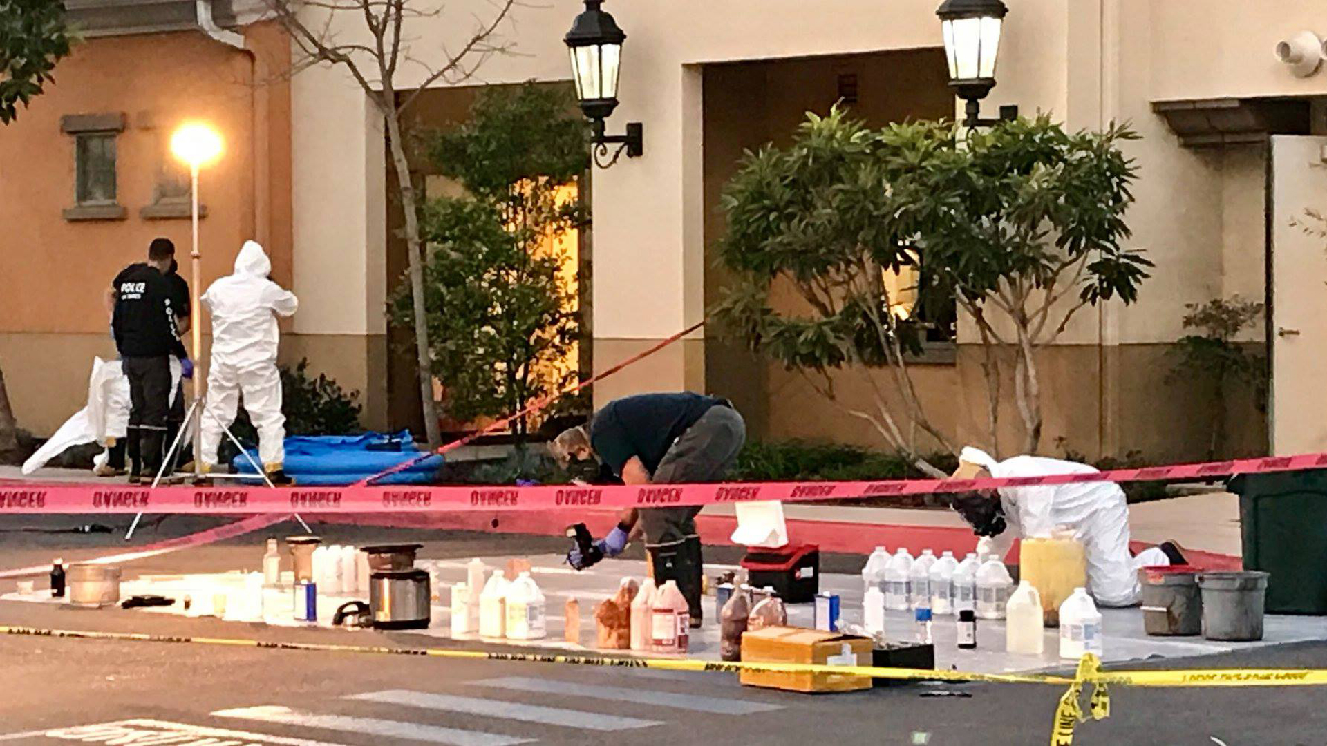 A drug lab was discovered inside a Marriott hotel in Goleta on Jan. 29, 2019. (Credit: Santa Barbara County Sheriff's Office)