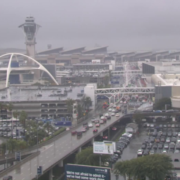 A view of Los Angeles International Airport from an LAX camera on Jan. 31, 2019.