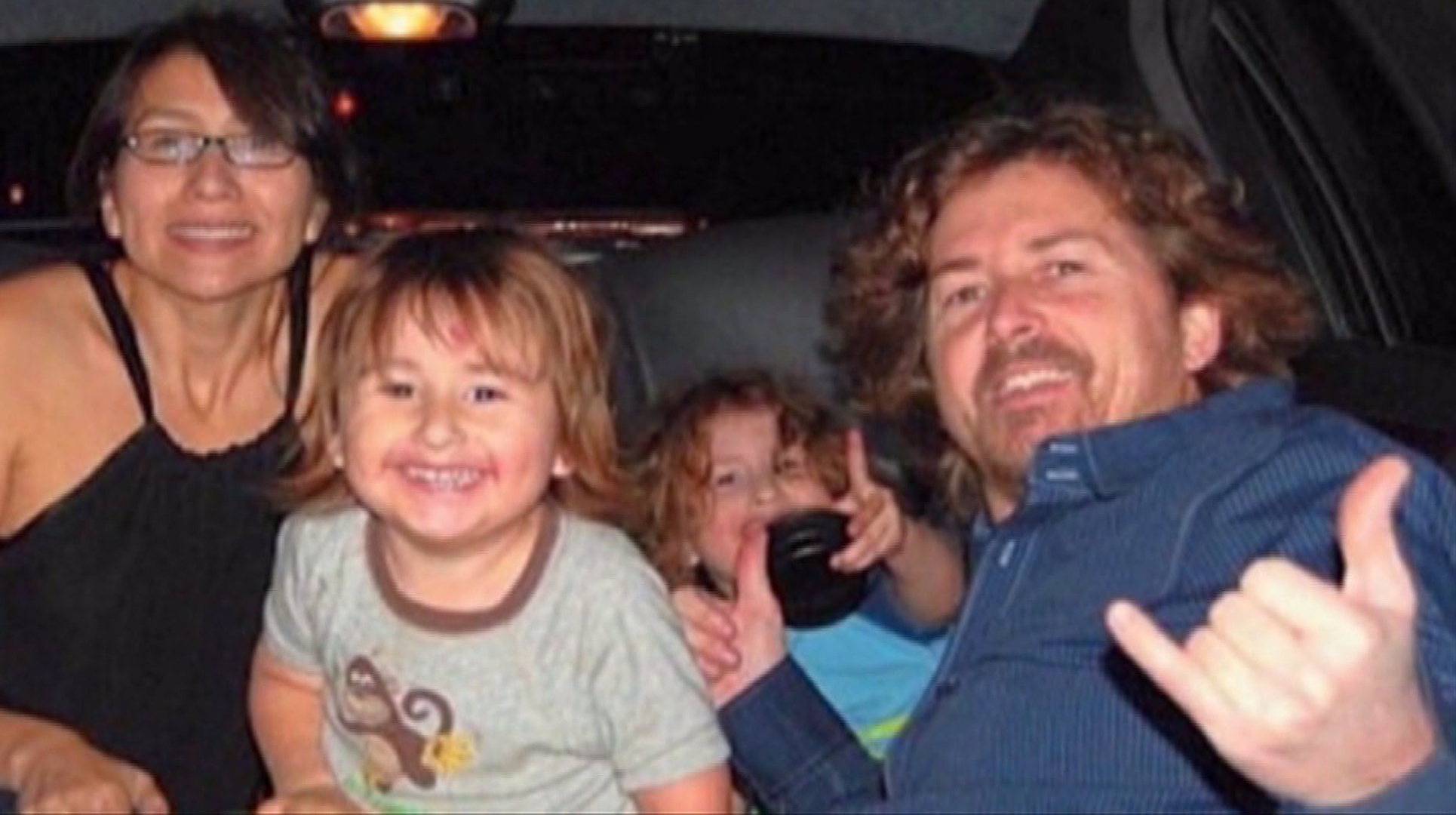 A family photo shows Joseph McStay, his wife Summer and sons Gianni and Joseph.