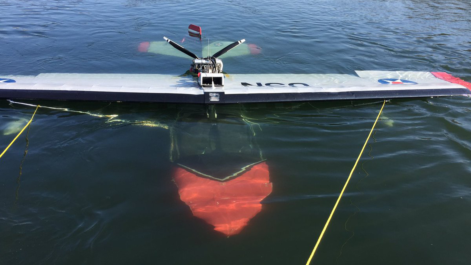 The Sacramento Fire Department released this photo of the submerged aircraft.