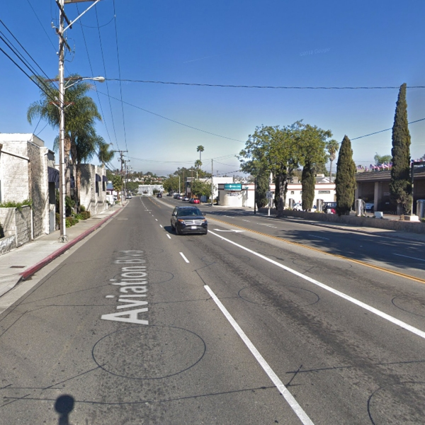 The 1600 block of Aviation Boulevard in Redondo Beach, as seen in a Google Street View image in January of 2018.