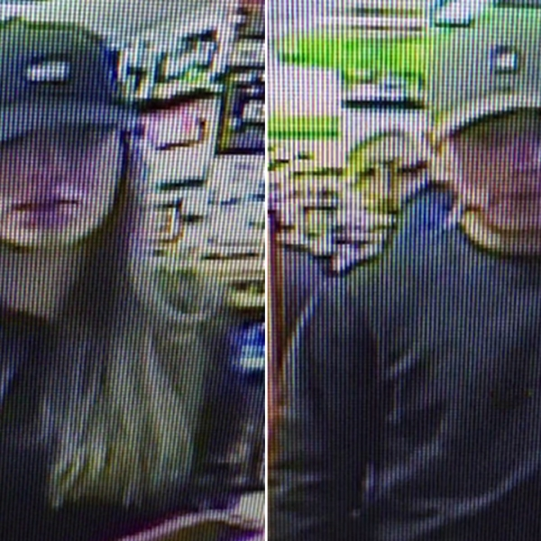 The female and male suspects appear in undated surveillance photos provided by the Ventura County Sheriff's Office.