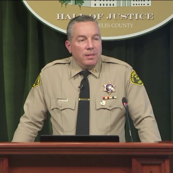 "Los Angeles County Sheriff Alex Villanueva delivers his ""State of the LASD"" address in Los Angeles on Jan. 30, 2019."