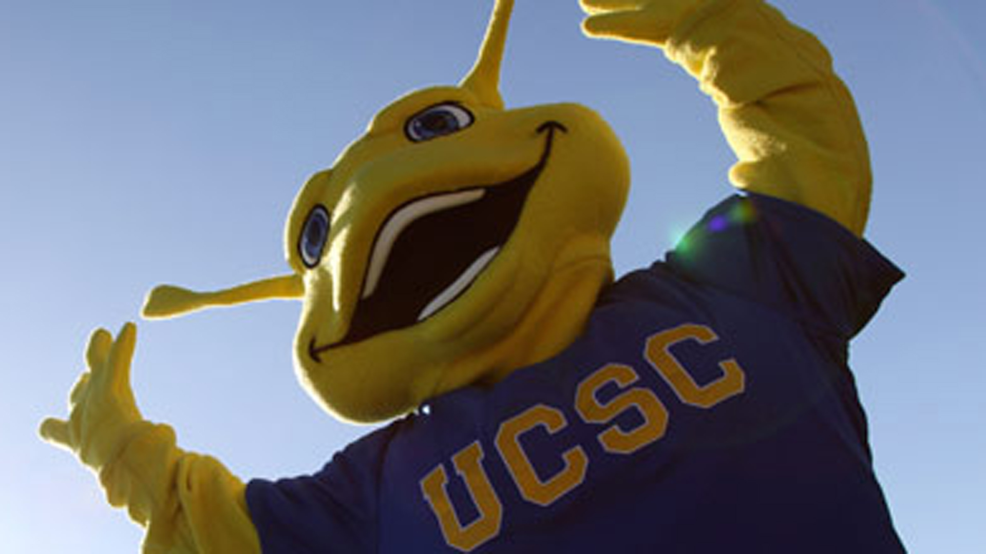 UC Santa Cruz posted this image of its banana slug mascot on the school website.