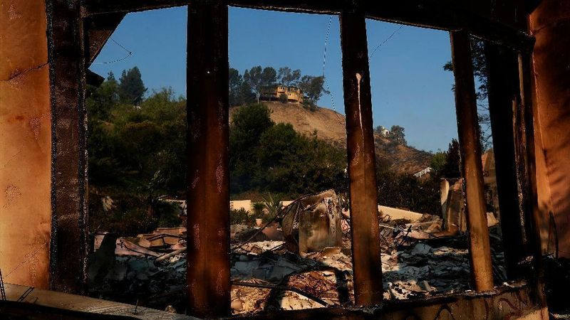 A home on Bell Canyon Boulevard was destroyed by the Woolsey fire in November, 2018. (Credit Mel Melcon / Los Angeles Times)