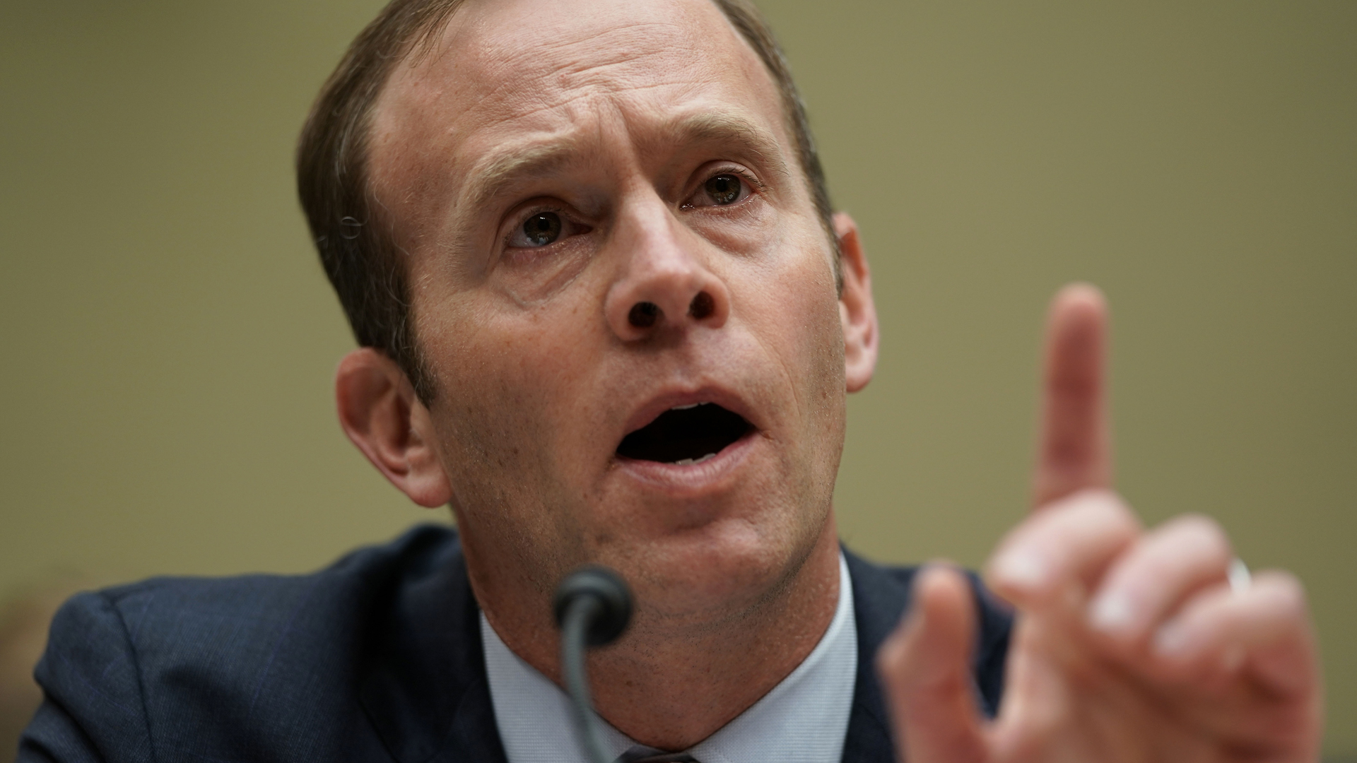 Federal Emergency Management Agency (FEMA) Administrator Brock Long testifies during a hearing before the House Oversight and Government Reform Committee November 29, 2018 on Capitol Hill. (Credit: Alex Wong/Getty Images)
