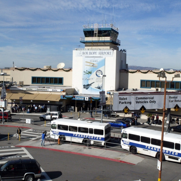 The Hollywood Burbank Airport is seen in a file photo from 2003. (Frazer Harrison/Getty Images)